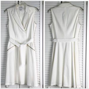 White House Black Market White Utility Dress 4
